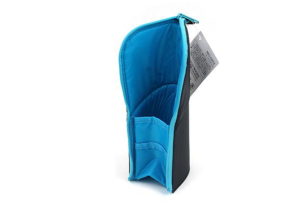 Kokuyo Neo Critz Transformer Pencil Case - Double-Zipper - Dark Blue / Light Blue - KOKUYO F-VBF130-1