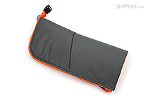 Kokuyo Neo Critz Transformer Pencil Case - Double-Zipper - Gray / Orange - KOKUYO F-VBF130-2