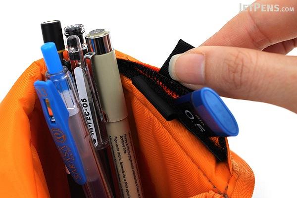 Kokuyo Neo Critz Pencil Case - Gray / Orange - KOKUYO F-VBF130-2