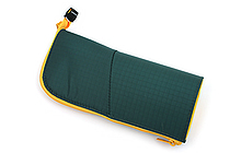 Kokuyo Neo Critz Transformer Pencil Case - Double-Zipper - Dark Green / Yellow - KOKUYO F-VBF130-3