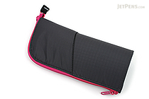 Kokuyo Neo Critz Pencil Case - Dark Gray / Pink - KOKUYO F-VBF130-4