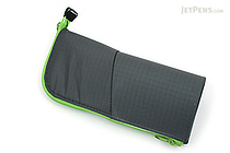 Kokuyo Neo Critz Pencil Case - Dark Green / Light Green - KOKUYO F-VBF130-5