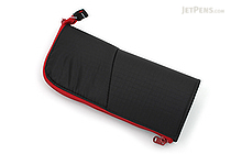 Kokuyo Neo Critz Pencil Case - Black / Red - KOKUYO F-VBF130-6
