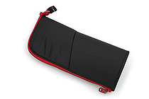 Kokuyo Neo Critz Transformer Pencil Case - Double-Zipper - Black / Red - KOKUYO F-VBF130-6