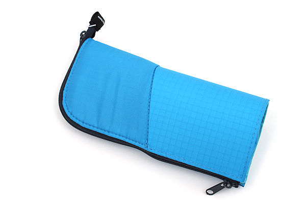 Kokuyo Neo Critz Transformer Pencil Case - Double-Zipper - Blue / Navy Blue Dot - KOKUYO F-VBF130-7