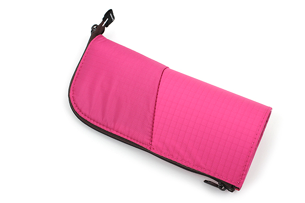 Kokuyo Neo Critz Transformer Pencil Case - Double-Zipper - Pink / Brown Dot - KOKUYO F-VBF130-8