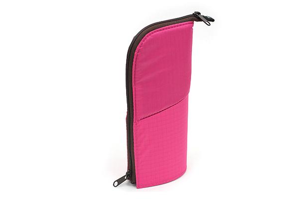 Kokuyo Neo Critz Transformer Pencil Case - Double-Zipper - Pink / Brown Dot - KOKUYO F-VBF130-8