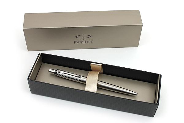 Parker Jotter Premium Ballpoint Pen - Medium Point - Classic Stainless Steel Chiselled - PARKER 1774548