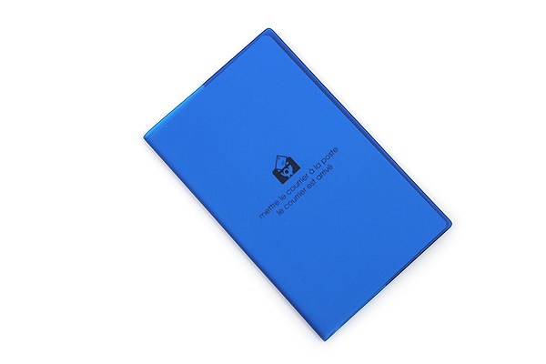 "Etranger di Costarica Transparency Memo Book - 3.3"" x 5.4"" - Lined - 32 Sheets - Blue - ETRANGER DI COSTARICA TRP-29-08"