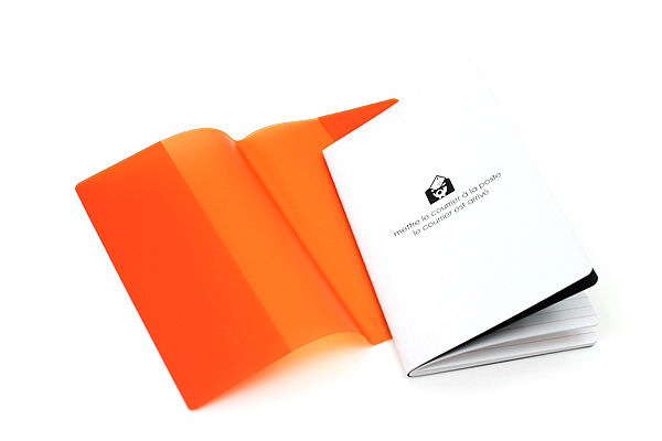"Etranger di Costarica Transparency Memo Book - 3.3"" x 5.4"" - Lined - 32 Sheets - Orange - ETRANGER DI COSTARICA TRP-29-03"