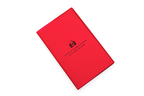 "Etranger di Costarica Transparency Memo Book - 3.3"" x 5.4"" - Lined - 32 Sheets - Red - ETRANGER DI COSTARICA TRP-29-02"
