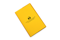 "Etranger di Costarica Transparency Memo Book - 3.3"" x 5.4"" - Lined - 32 Sheets - Yellow - ETRANGER DI COSTARICA TRP-29-04"