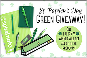 Pen Perks: St. Patrick's Day Green Giveaway