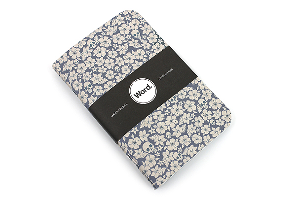 "Word Notebooks - Blue Floral - 3.5"" x 5.5"" - 48 Pages - Pack of 3 - WORD NOTEBOOKS W-FLORAL-BL"