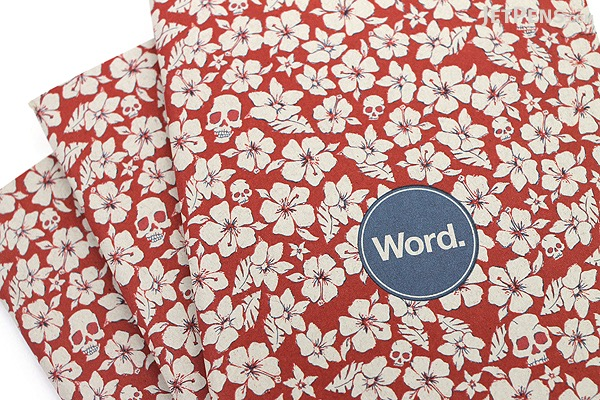 """Word Notebooks - Red Floral - 3.5"""" x 5.5"""" - Pack of 3 - WORD NOTEBOOKS W-FLORAL-RD"""