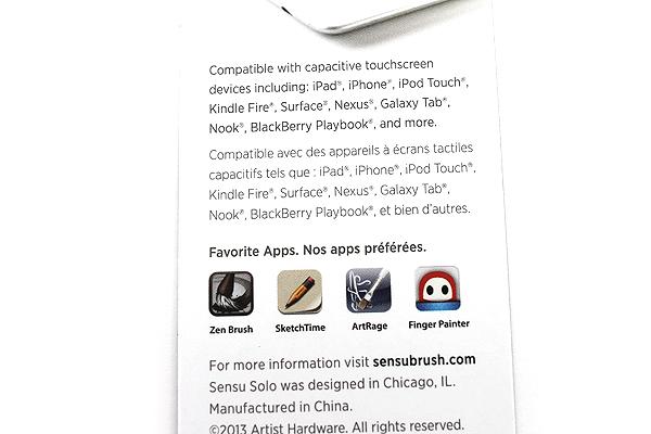 Sensu Solo Brush for Touch Screen Devices - Slate - SENSU SENSU2SLT