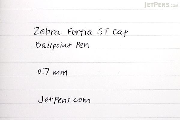 Zebra Fortia ST Cap Ballpoint Pen - 0.7 mm - Blue - ZEBRA BA91-BL