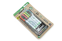 Zebra Eco Zebrite Double-Sided Highlighter - Fine / Medium - 5 Color Set - ZEBRA 75005