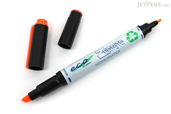 Zebra Eco Zebrite Double-Sided Highlighter - Fine / Medium - 5 Color Set - ZEBRA 75005