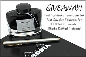 Pen Perks: Pilot Cavalier, Iroshizuku Ink, and Rhodia DotPad Giveaway