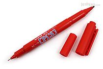 Uni Pi:s Double-Sided Marker - Extra Fine / Fine - Red - UNI PA121T.15