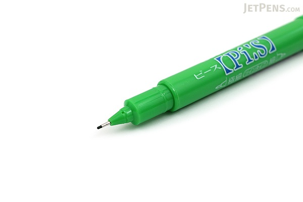 Uni Pi:s Double-Sided Marker - Extra Fine / Fine - Yellow Green - UNI PA121T.5