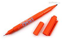 Uni Pi:s Double-Sided Marker - Extra Fine / Fine - Orange - UNI PA121T.4