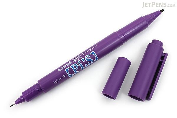 Uni Pi:s Double-Sided Marker - Extra Fine / Fine - Violet - UNI PA121T.12