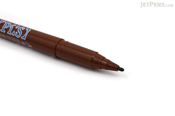 Uni Pi:s Double-Sided Marker - Extra Fine / Fine - Brown - UNI PA121T.21