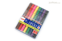 Uni Pi:s Double-Sided Marker - Extra Fine / Fine - 8 Color Set - UNI PA121T8C