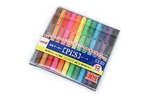 Uni Pi:s Double-Sided Marker - Extra Fine / Fine - 12 Color Set - UNI PA121T12C
