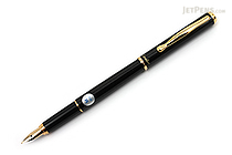 Pilot Cavalier Fountain Pen - Black - Medium Nib - PILOT FCA-3SR-B-M