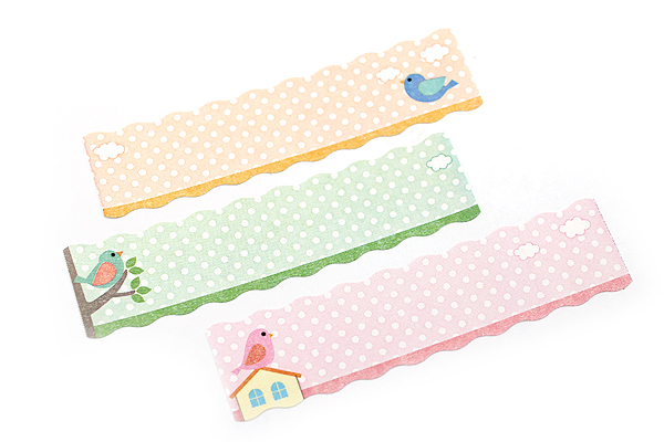 Pine Book Nami Nami Roll Label Stickers - 15 mm - Dot Bird - PINE BOOK LS00051