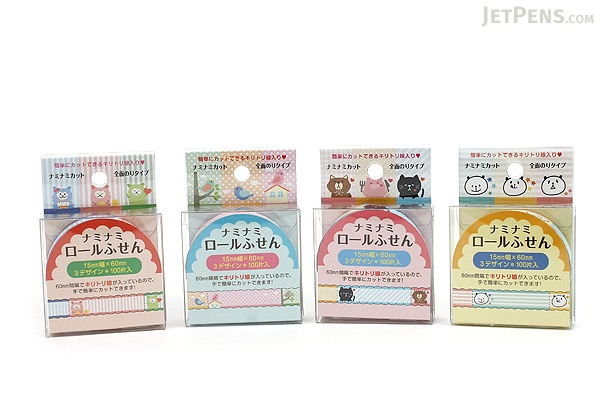 Pine Book Nami Nami Roll Label Stickers - 15 mm - Poyo Animal - PINE BOOK LS00054