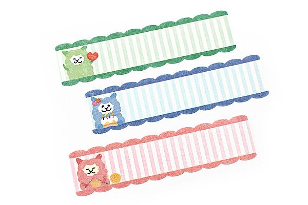 Pine Book Nami Nami Roll Label Stickers - 15 mm - Colorful Alpaca - PINE BOOK LS00052