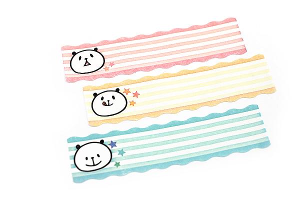 Pine Book Nami Nami Roll Label Stickers - 15 mm - Panda Face - PINE BOOK LS00053