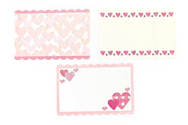 Pine Book Nami Nami Roll Label Stickers - 40 mm - Heart - PINE BOOK LS00063