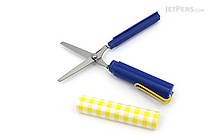 Sun-Star Stickyle Pen-Style Scissors - Coorde Blue / Yellow - SUN-STAR S3713520