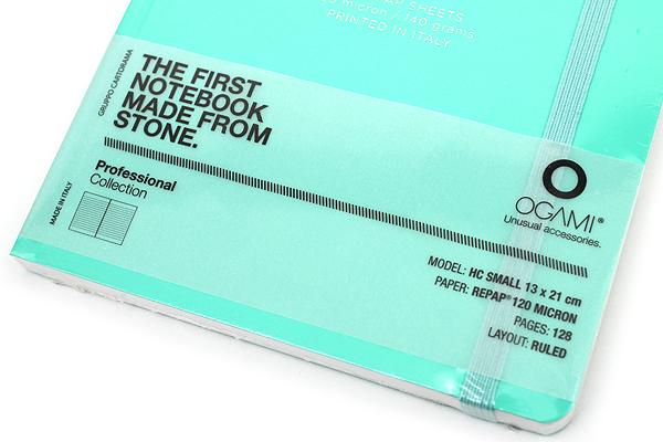 "Ogami Professional Notebook - Hardcover - Small - 5"" x 8.25"" - Ruled - Blue (Aqua Green) - OGAMI OG08000028"