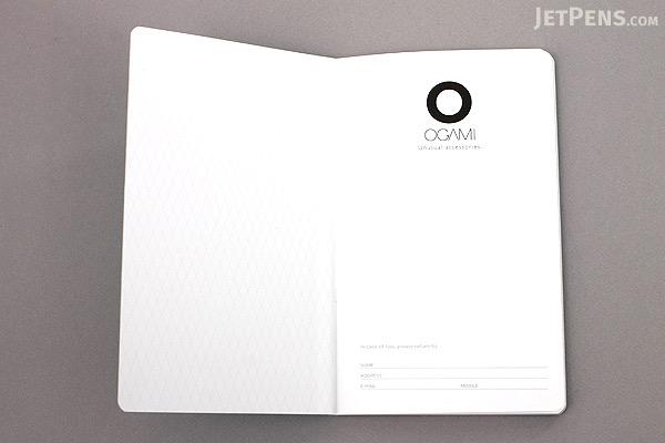 "Ogami Professional Notebook - Hardcover - Small - 5"" x 8.25"" - Ruled - Gray - OGAMI OG08000044"