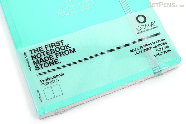 "Ogami Professional Notebook - Hardcover - Small - 5"" x 8.25"" - Plain - Blue (Aqua Green) - OGAMI OG08000026"
