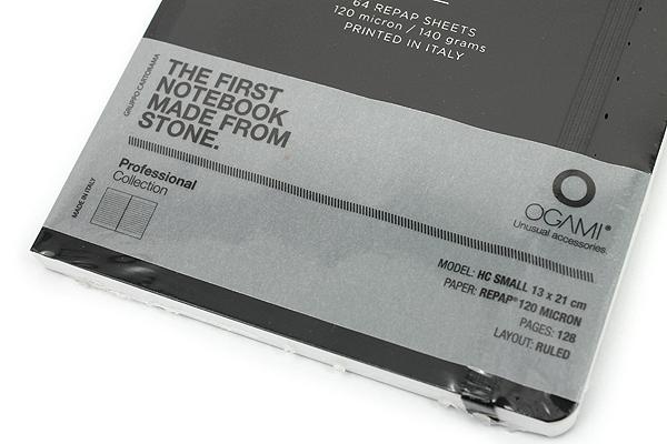 """Ogami Professional Notebook - Hardcover - Small - 5"""" x 8.25"""" - Ruled - Black - OGAMI OG08000027"""