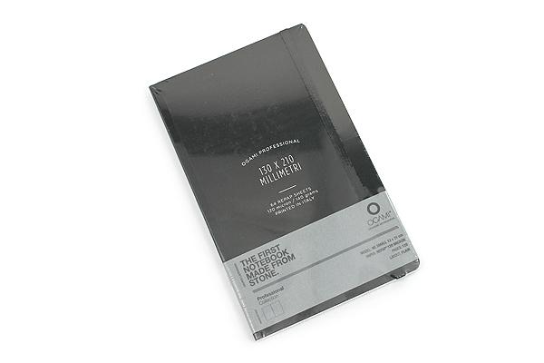 """Ogami Professional Notebook - Hardcover - Small - 5"""" x 8.25"""" - Plain - Black - OGAMI OG08000025"""
