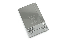 "Ogami Professional Notebook - Hardcover - Small - 5"" x 8.25"" - Plain - Gray - OGAMI OG08000043"