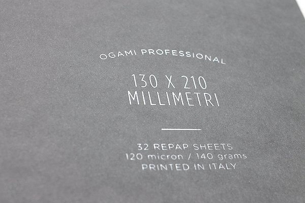 "Ogami Professional Notebook - Soft Cover - Small - 5"" x 8.25"" - Ruled - Gray - OGAMI OG08000040"