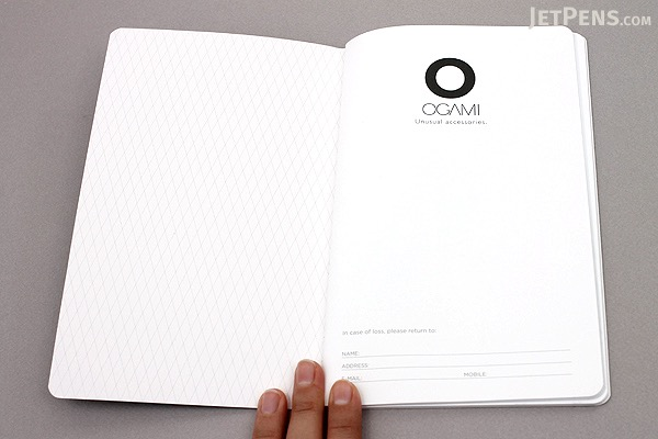 "Ogami Professional Notebook - Soft Cover - Small - 5"" x 8.25"" - Plain - White - OGAMI OG08000051"