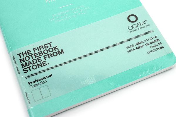 "Ogami Professional Notebook - Soft Cover - Small - 5"" x 8.25"" - Plain - Blue (Aqua Green) - OGAMI OG08000016"