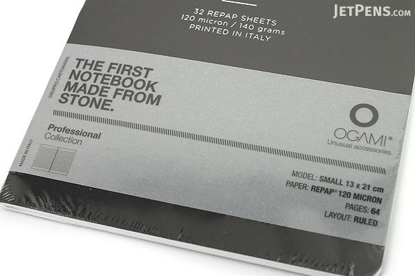 "Ogami Professional Notebook - Soft Cover - Small - 5"" x 8.25"" - Ruled - Black - OGAMI OG08000017"