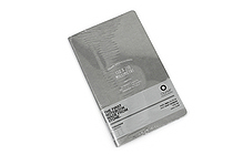 "Ogami Professional Notebook - Soft Cover - Small - 5"" x 8.25"" - Plain - Gray - OGAMI OG08000039"