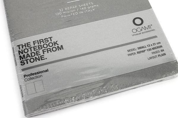 "Ogami Professional Notebook - Soft Cover - Small - 5"" x 8.25"" - Plain - Gray - OGAMI OG08000039"